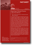 CFAS Fact Sheet - Reporting of climate finance under the UNFCCC